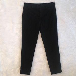 Zara Basic Black Swiss dot pants, Sz 8